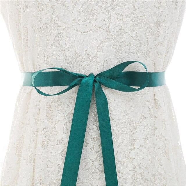 Luxurious Rhinestones Women Wedding Sashes | Bridelily - green / One Size - wedding sashes