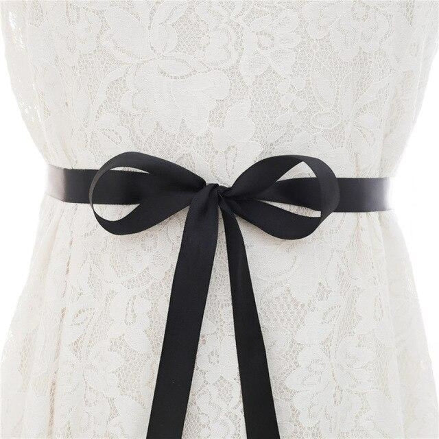 Luxurious Rhinestones Women Wedding Sashes | Bridelily - black / One Size - wedding sashes