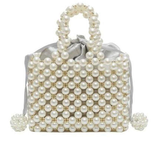 Luxury Hand-Woven Pearl Tote Wedding Handbags | Bridelily - wedding handbags