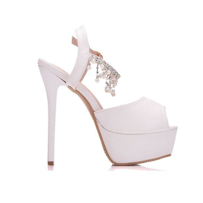 Luxury Platform High Heels Wedding Sandals | Bridelily - wedding sandals