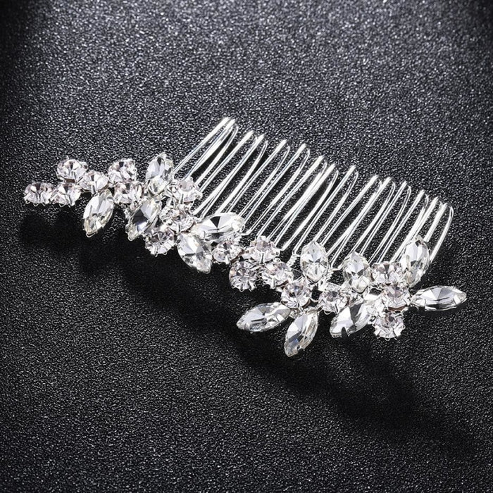 Luxury Rhinestone Glass Womens Combs & Barrettes | Bridelily - combs and barrettes