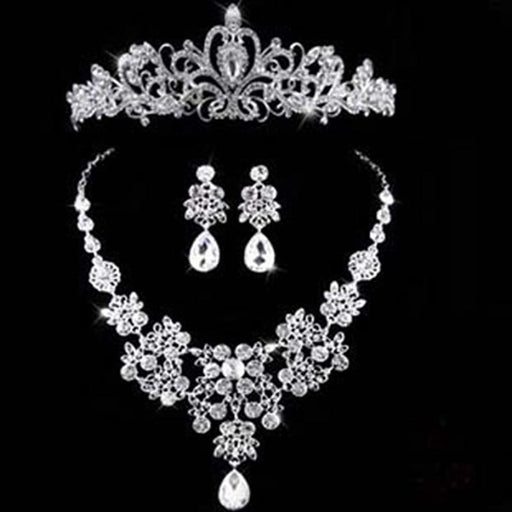 Luxury Sparkling Crystal Bridal Jewelry Sets | Bridelily - 3Pcs Set - jewelry sets