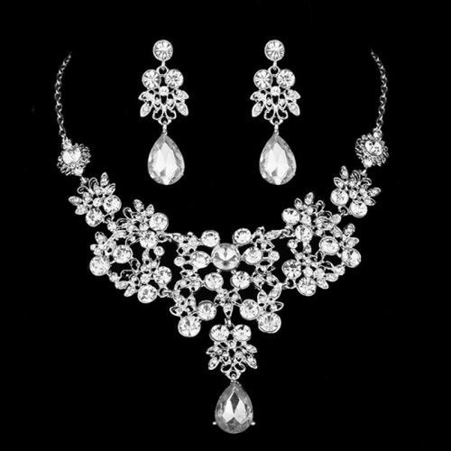 Luxury Sparkling Crystal Bridal Jewelry Sets | Bridelily - 2Pcs Set - jewelry sets
