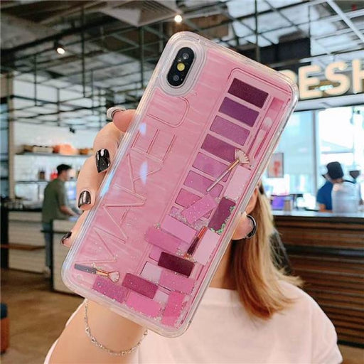 Makeup Eyeshadow Palette Phone Case For iPhone - for iPhone X XS / PINK
