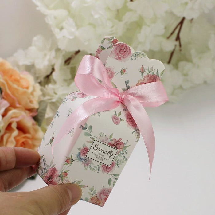 Marble Bomboniera Ribbon Bowknot Favor Holders | Bridelily - favor holders