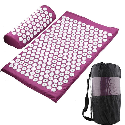 Massager Cushion Acupressure Relieve Stress Back Body Pain Spike Mat Acupuncture Massage Yoga Mat - yoga mat