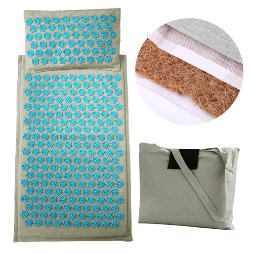 Mat Lotus Spike Acupressure Massager Relaxation Stress Relief Cushion Yoga Mat Relieve Body Stress - yoga mat