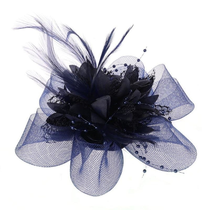 Mesh Beads Feather Flower Clips Fascinators | Bridelily - fascinators