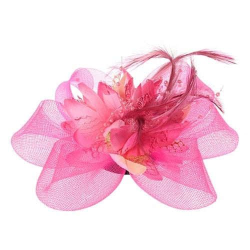 Mesh Beads Feather Flower Clips Fascinators | Bridelily - YPK - fascinators