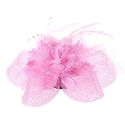 Mesh Beads Feather Flower Clips Fascinators | Bridelily - PK - fascinators