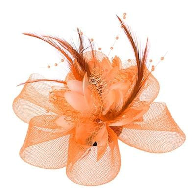 Mesh Beads Feather Flower Clips Fascinators | Bridelily - O - fascinators