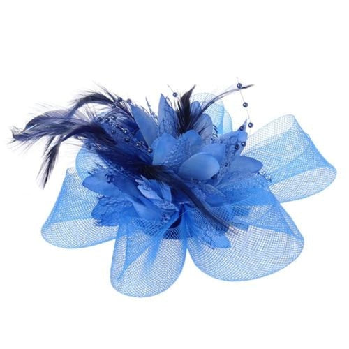 Mesh Beads Feather Flower Clips Fascinators | Bridelily - AB - fascinators
