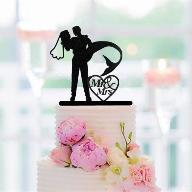 Mixed Funny Style Wedding Cake Toppers | Bridelily - style 6 - cake toppers