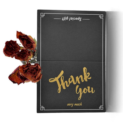 Modern Black Gold Letter Thank you Cards(50PCS) | Bridelily - thnak you cards