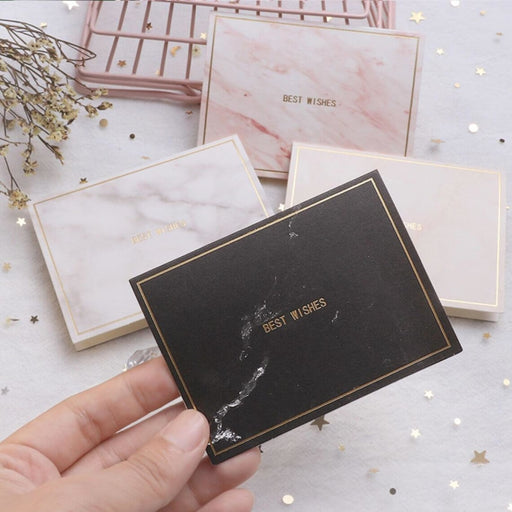 Modern Marble Side Fold Thank you Cards(50PCS) | Bridelily - thnak you cards