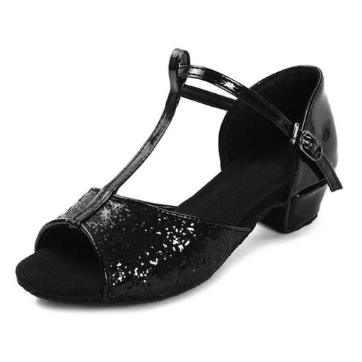 Modern Medium Soft Sole Ballroom Dance Shoes | Bridelily - Black / 9.5 - ballroom dance shoes