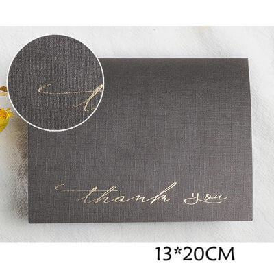 Modern Style Side Fold Thank You Cards (50PCS) | Bridelily - 2 - thnak you cards