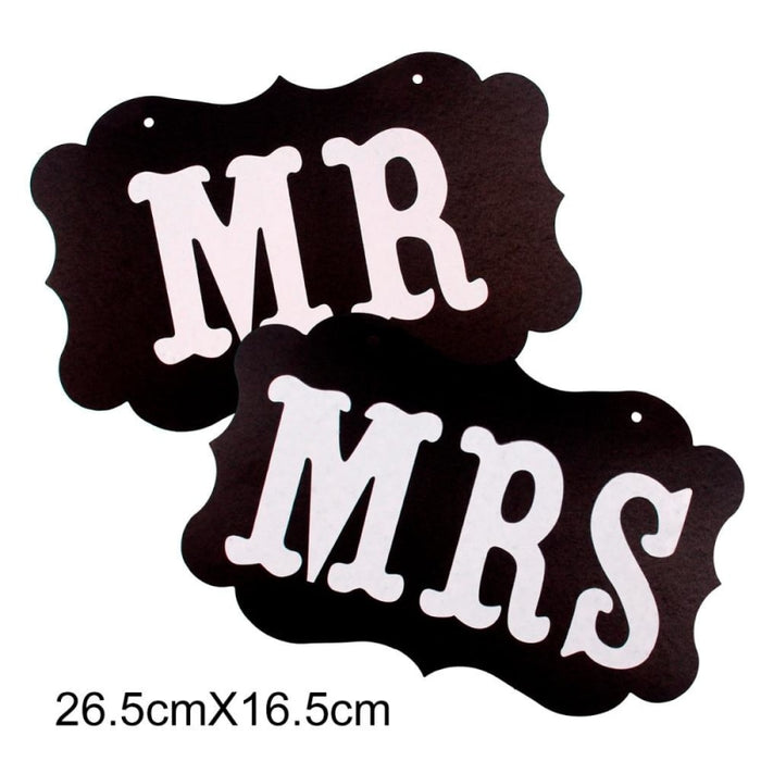 Mr Mrs Letter Wedding Decorations (2pcs) | Bridelily - wedding decorations