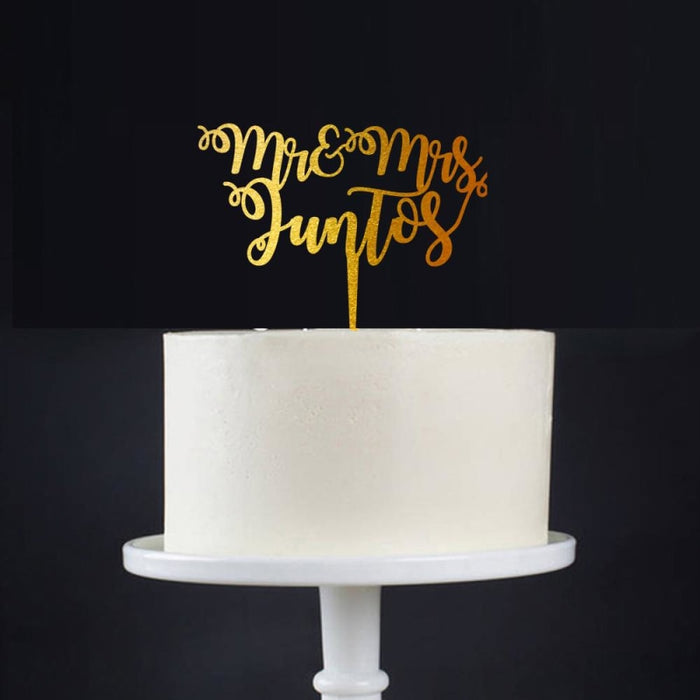 Mr Mrs Wood Personalized Wedding Cake Toppers | Bridelily - cake toppers
