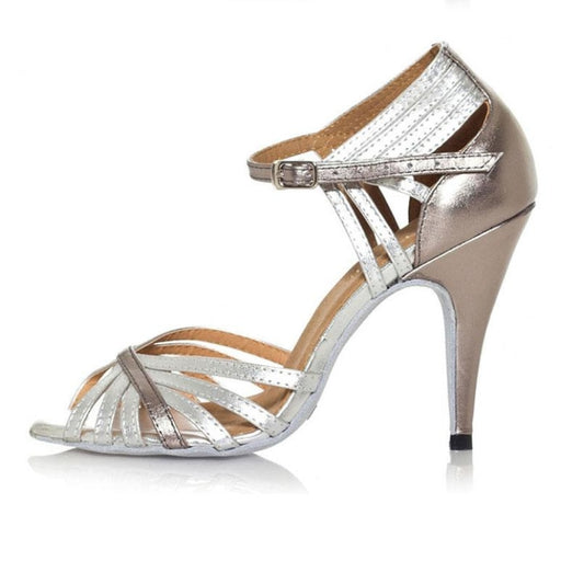 Muti-Color Glittered Buckle Ballroom Dance Shoes | Bridelily - ballroom dance shoes