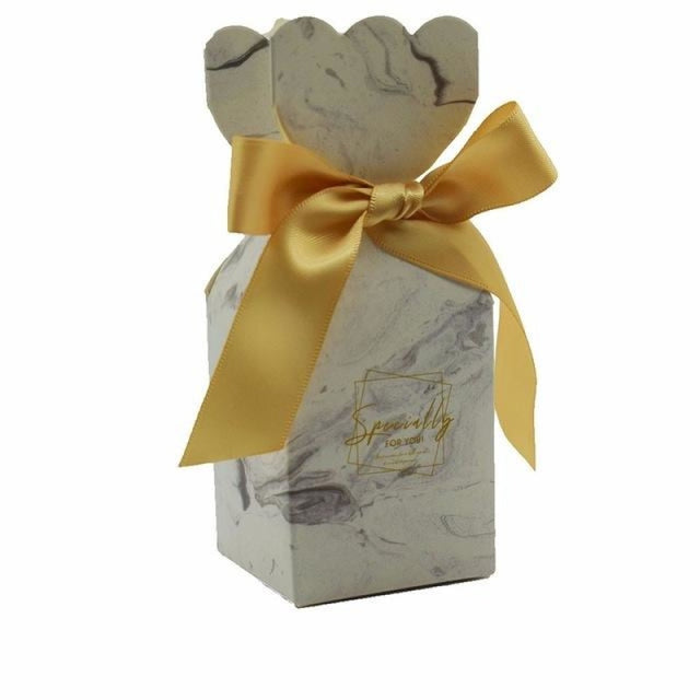 Muticolor Bomboniera Ribbon Bowknot Favor Holders | Bridelily - Gold / 5x5x12.5cm / 20 Pieces - favor holders