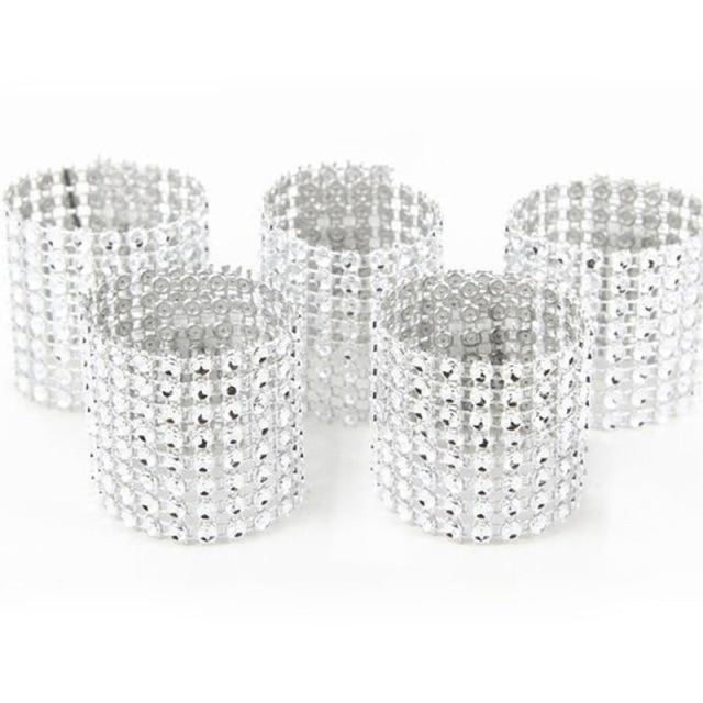 Napkin Ring Wedding Decorations (10pcs) | Bridelily - silver - wedding decorations