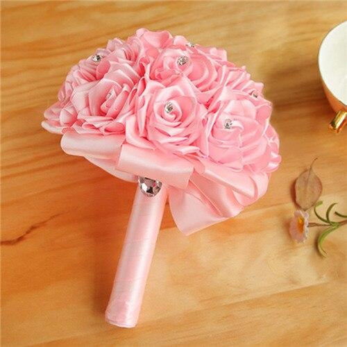 New Arrival Rose Handmade Wedding Bouquets | Bridelily - Pink - wedding flowers