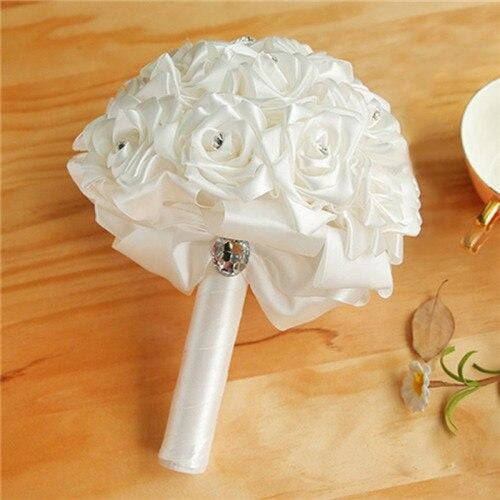 New Arrival Rose Handmade Wedding Bouquets | Bridelily - White - wedding flowers