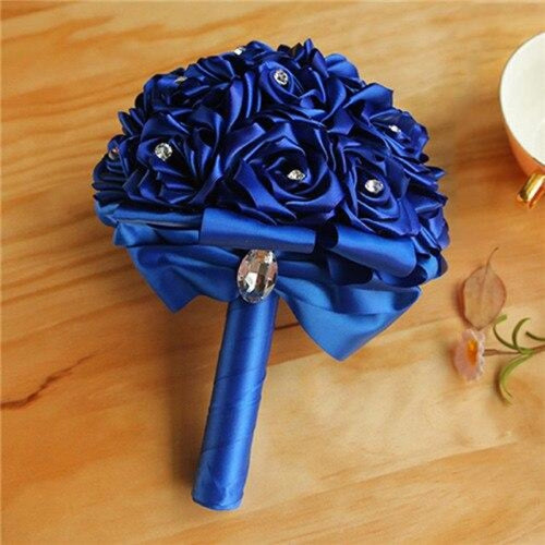 New Arrival Rose Handmade Wedding Bouquets | Bridelily - Royal blue - wedding flowers