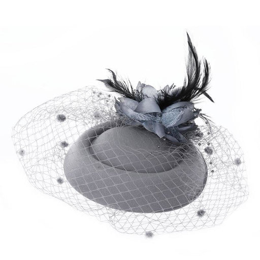 New Bowler Feather Flower Hair Clip Fascinators | Bridelily - fascinators