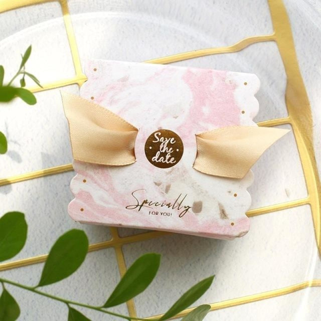 New Candy Box With Ribbon Wings Favor Holders | Bridelily - Sky blue / 20 PCS - favor holders