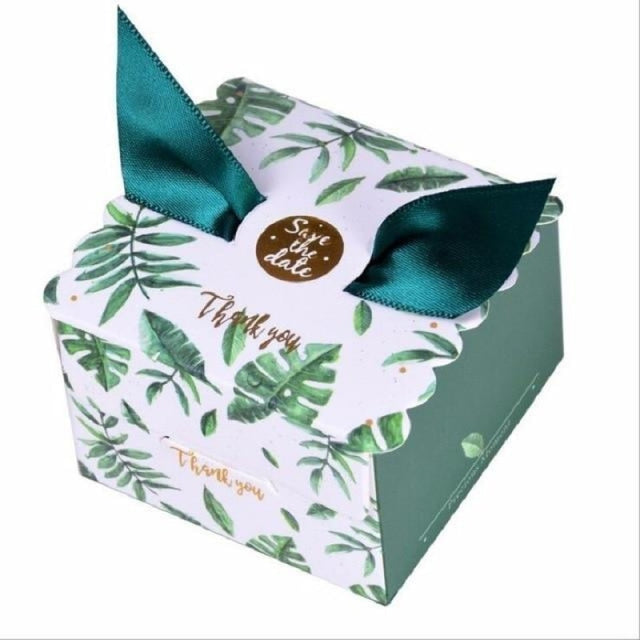 New Candy Box With Ribbon Wings Favor Holders | Bridelily - Olive / 20 PCS - favor holders