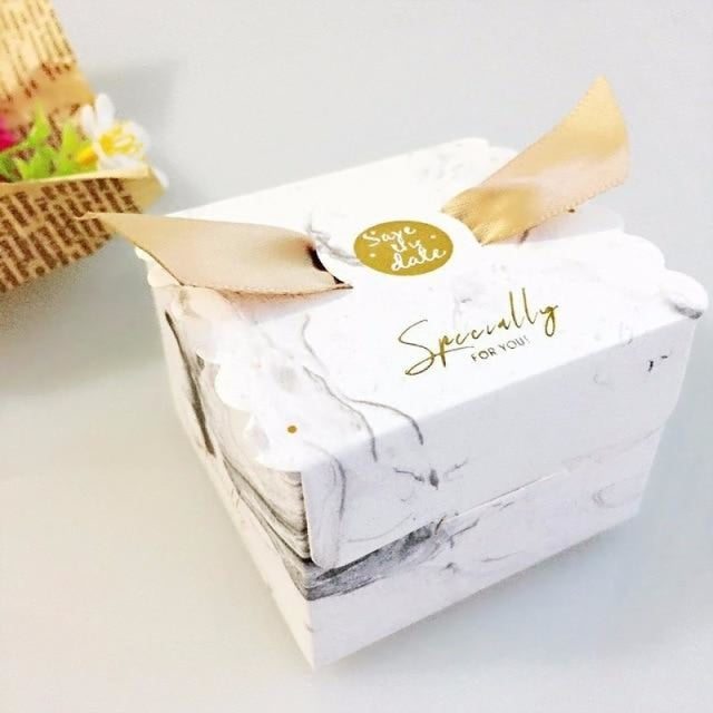 New Candy Box With Ribbon Wings Favor Holders | Bridelily - Yellow / 20 PCS - favor holders
