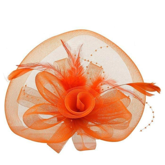 New Cocktail Feather Flower Hairband Fascinators | Bridelily - color-I - fascinators