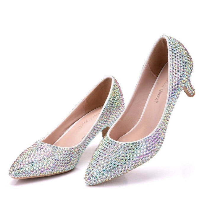 New Crystal Pointed Toe Wedding Pumps | Bridelily - wedding pumps