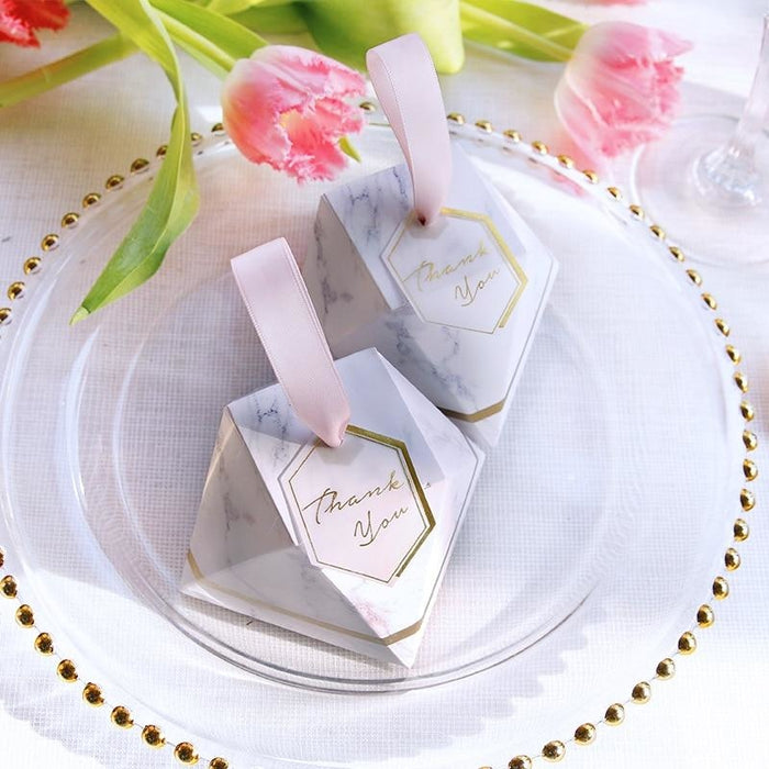 New Diamond Marble Special Shape Favor Holders | Bridelily - favor holders