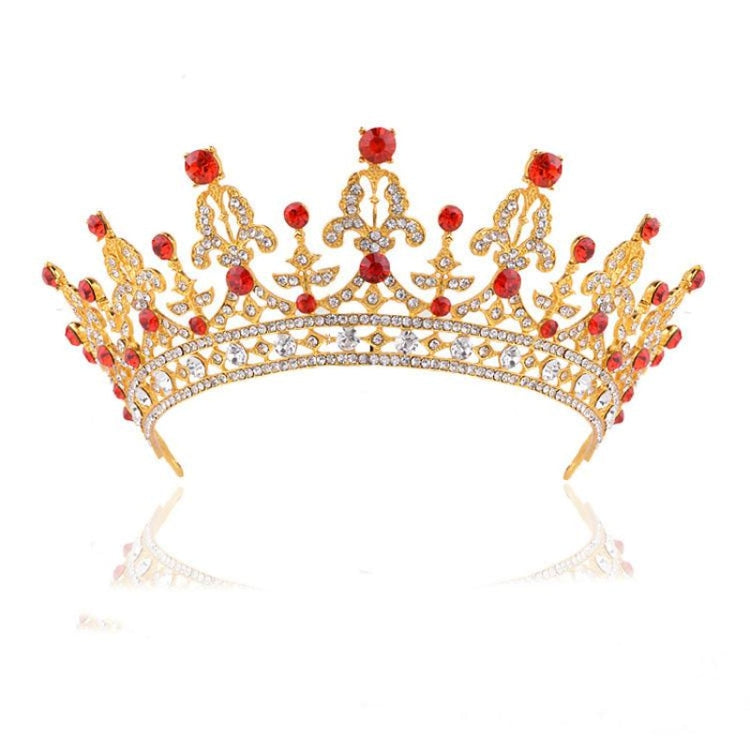 New Fashion Luxury Crystal Tiaras | Bridelily - Style 4 Red - tiaras