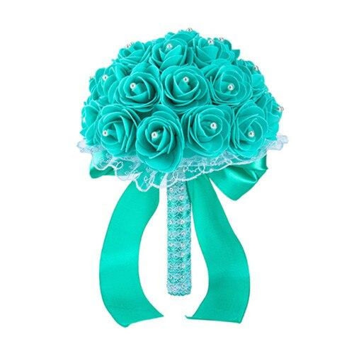 New Handmade Rose Flower Wedding Bouquets | Bridelily - GREEN - wedding flowers