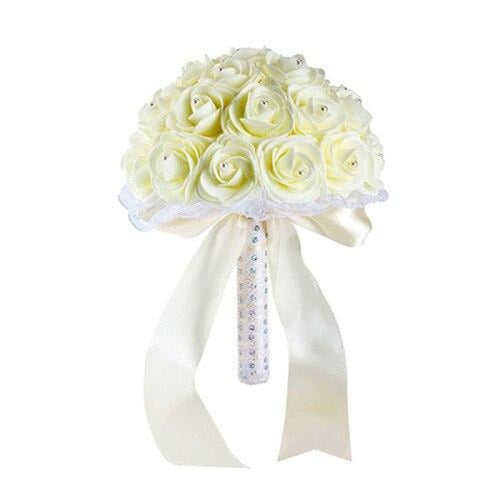 New Handmade Rose Flower Wedding Bouquets | Bridelily - Beige - wedding flowers