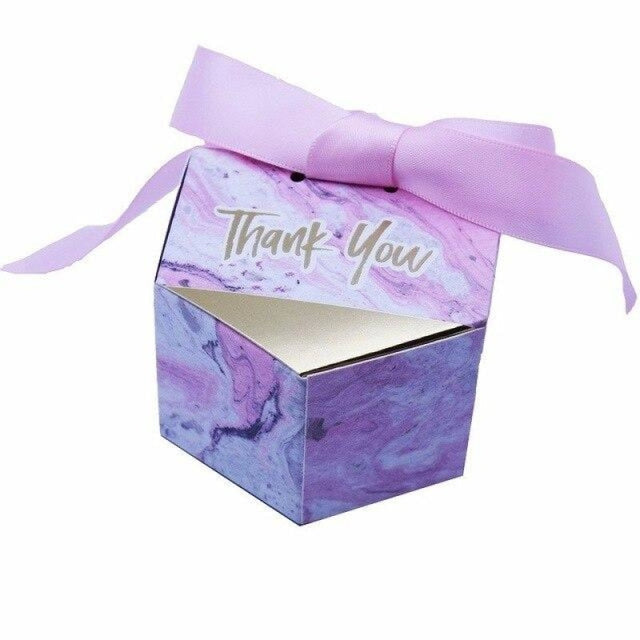 New Marbling Bowknot Candy Boxes Favor Holders | Bridelily - Pink / 20 PCS - favor holders