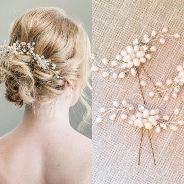 New Pearl Beautiful Floral Headpieces | Bridelily - floral headpieces