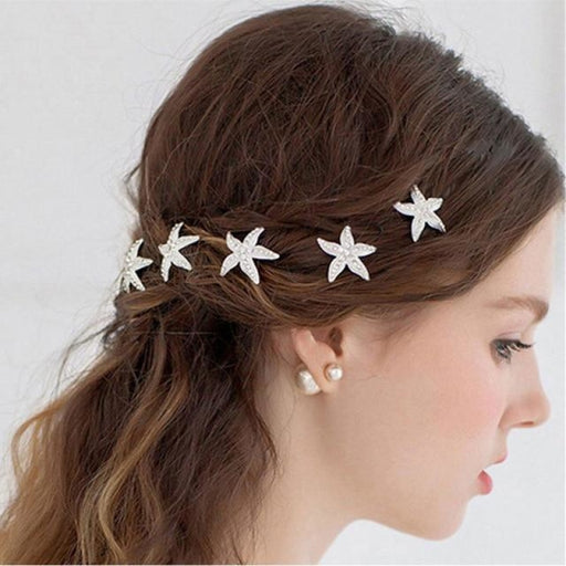 New Pearl Beautiful Floral Headpieces | Bridelily - G 2PCS - floral headpieces