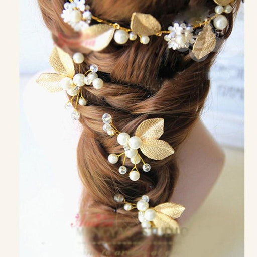 New Pearl Beautiful Floral Headpieces | Bridelily - H 1PC - floral headpieces