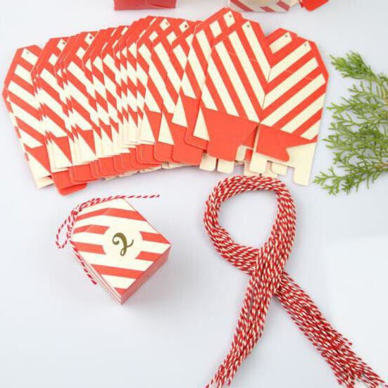 New Red Stripe Bow Candy Boxes Favor Holders | Bridelily - favor holders