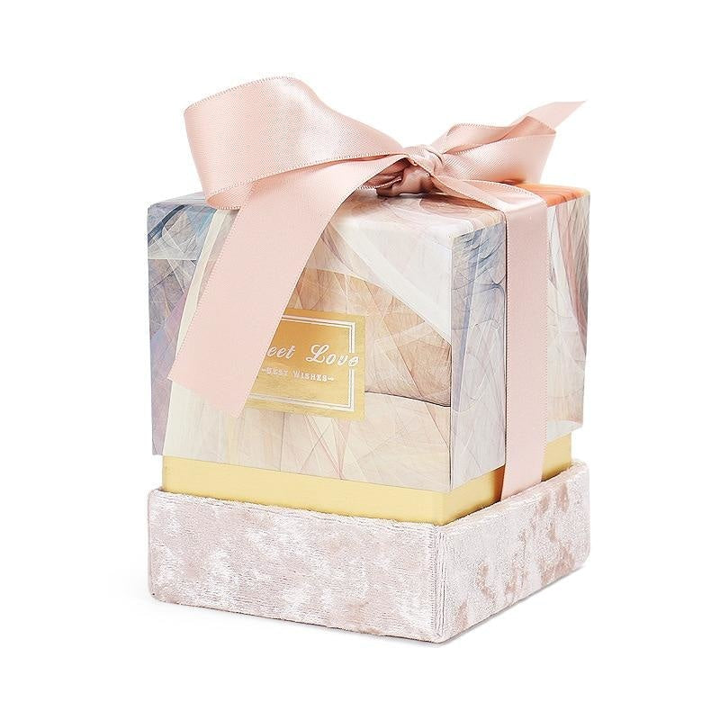 New Ribbon Bowknot Candy Boxes Favor Holders | Bridelily - 9x9x9cm - favor holders