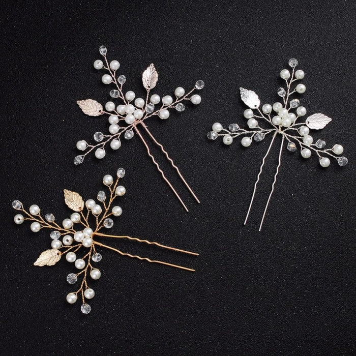 Newest 2 Pcs/Lot Handmade Crystal Hairpins | Bridelily - hairpins