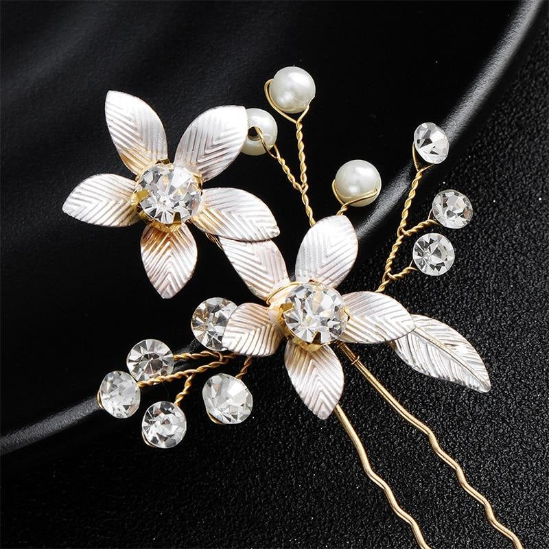 Newest 2 Pcs/Lot Pearls Handmade Womens Hairpins | Bridelily - hairpins