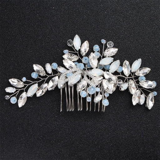 Newest Blue Opal Crystal Womens Combs & Barrettes | Bridelily - combs and barrettes