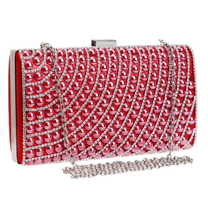 Newest Ceramics Candy With Chain Wedding Handbags | Bridelily - YM1098Red - wedding handbags