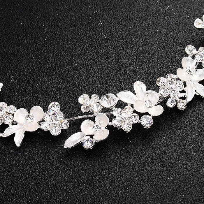 Newest Crystal Flower Handmade Womens Headbands | Bridelily - headbands